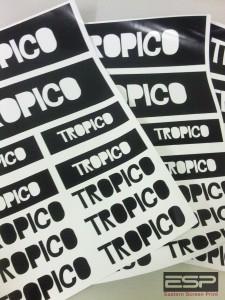 Printed sticker sheets for Tropico