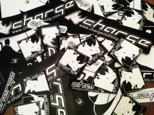 Charge Clothing Stickers